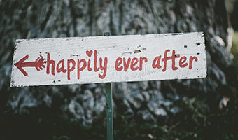 Happily ever after sign, divorce, Photograph by Ben Rosett