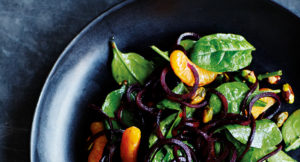Recipe: Beetroot Noodle Salad with Clementine and Pistachios