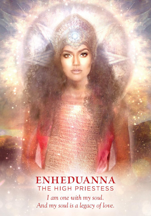 Breath, breathing, meditation. Enheduanna, The High Priestess, from Meggan Watterson's Divine Feminine oracle card deck