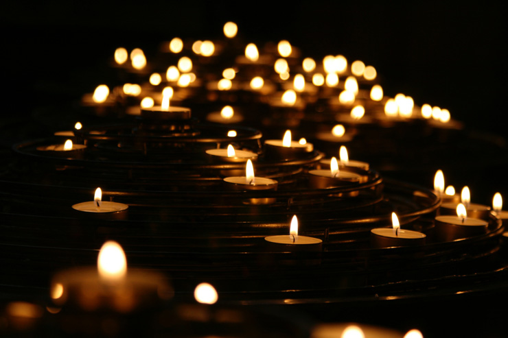 Managing Grief with Gratitude, by Kara Twomey. Photograph of candles by Mike Labrum