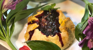 Rustic Berry Tarts & Flamenco: Recipe & Musings From A Chef by Chef Christine Moss. Photograph of the Rustic Berry Tarts