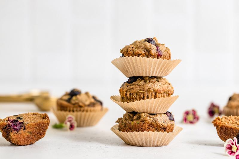 Harley's Blueberry Zucchini Muffins by Vani Hari, photograph by Kim Ruggles